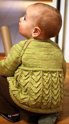 Helena – Baby Sweater Dress via Knitty.com