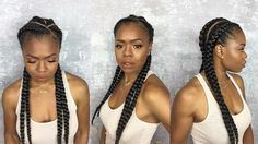 These are cornrows with extensions added they go by many names but they should not to be confused with #DutchBraids or #BoxerBraids which I'm not even sure why they needed to rename them boxer braids they could of just called them Dutch braids or Cornrows. Little education... Dutch braids are similar to cornrows but are not the same technique. Dutch braids are BEST for straight to loose wavy hair. The technique for Dutch braiding allows you to grip the hair better when it's straight…
