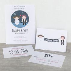 Star Wars imprimibles boda invitación ahorran la por Paperling