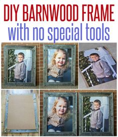 Make some barn wood frames with no special tools