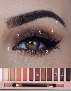 Make Up - Eye Makeup Tutorial; Eye makeup for brown eyes; Eye makeup, of course; Make up Daily Eye Makeup, Everyday Eye Makeup, Eye Makeup Tips, Makeup Inspo, Makeup Ideas, Makeup Hazel Eyes, Makeup Products, Everyday Eyeshadow, Makeup Brands