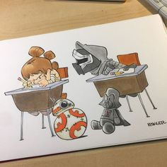 """722 Likes, 1 Comments - Star Wars  (@starwarsbycarrie) on Instagram: """"3 from @briankesinger ⭐#starwars #starwarsepisode7 #starwarsepisode8  #starwarsdaily…"""""""