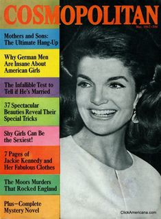 Cosmopolitan magazine, MAY 1967 Jackie Kennedy on cover