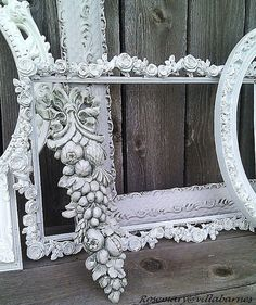 frames.  shabby.  beautiful. - there are so many beautiful frames out there, some damaged, but ornate and lovely - spray paint makes them new again!