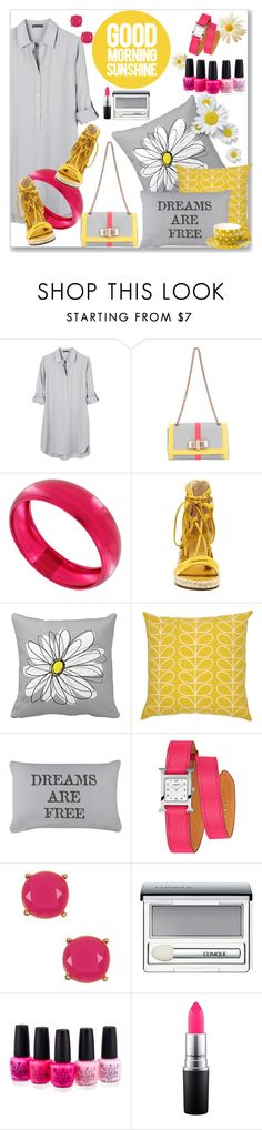 """""""Everything's coming up daisies"""" by kimzarad1 ❤ liked on Polyvore featuring United by Blue, Christian Louboutin, Vince Camuto, Orla Kiely, Park B. Smith, Hermès, Trina Turk, Clinique, OPI and MAC Cosmetics"""