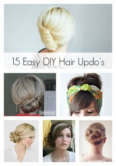 15 Easy DIY Hair Updo's.  I have to try these.
