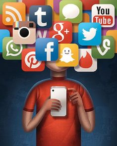Social media can affect one's desire to self-harm. Sometimes the negative feedback on social media is what pushes a person's desire to self-harm over the edge. Social Media Art, Social Media Detox, Social Advertising, Creative Advertising, Web Banner Design, Technology Addiction, Pictures With Deep Meaning, Digital Foto, Satirical Illustrations