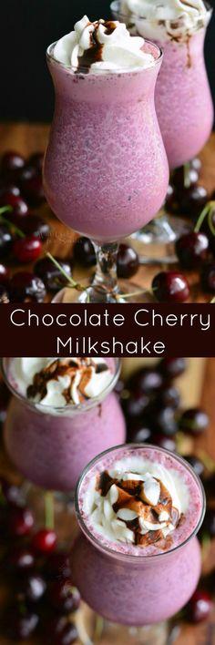 Chocolate Covered Cherry Milkshake. This smooth and creamy Chocolate Cherry Milkshake is made with fresh cherries, chocolate magic shell and your favorite vanilla bean ice cream.