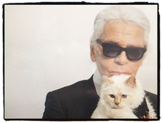 Not only Italian for Italia Indipendent. Karl Lagerfeld   ...and his cat!   Mod. 090V black www.italiaindepen...
