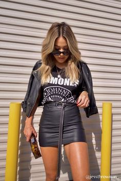 The Ramones Crop – TribeYou can find Rocker outfit and more on our website.The Ramones Crop – Tribe Rock Outfits, Edgy Outfits, Cute Casual Outfits, Grunge Outfits, Night Outfits, Fall Outfits, Casual Dresses, Fashion Outfits, Outfits For Concerts