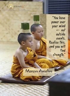 """""""You have power over your mind — not outside events. Realize this, and you will find strength."""" ♡ Marcus Aurelius"""