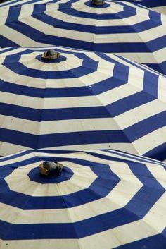Striped Umbrellas are always chic.