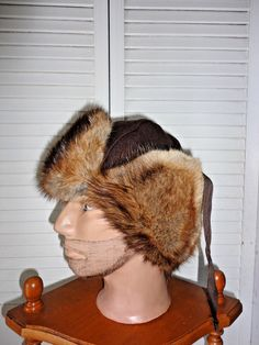 1385379d9d6 men s winter real leather baseball cap Hat ear Flap with thick real fur