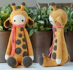 Free pattern Giraffe crochet. gratis haakpatroon giraffe