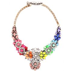 Shourouk Apolonia Rainbow Necklace in Multicolor