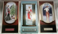 Hunkydory Festive Decadence art deco style Christmas cards. Made by Lynne Lee.