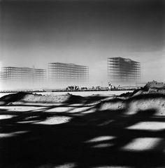 Niemeyer's Brasília under construction.