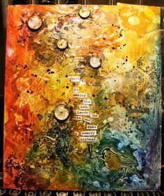I LOVE this mixed media piece by balzer designs
