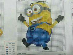 Minion x-stitch