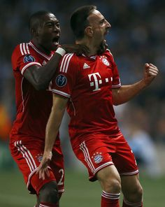 Alaba and Ribery, Bayern 3 x 1 Manchester City - Group Stage, UEFA Champions League 2013-14