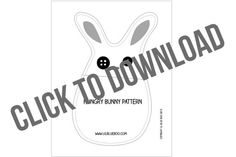 The Hungry Bunny Pattern Download and Tutorial | Ashley Hackshaw / Lil Blue Boo