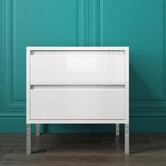 Buy Austin White High Gloss 2 Drawer Bedside Cabinet from - the UK's leading online furniture and bed store Austin White, Bedside Cabinet, Online Furniture, High Gloss, Modern Decor, Bedroom Ideas, Cabinets, Drawers, Organization
