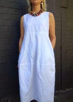 Eva Dress Pattern - Patterns - Tessuti Fabrics - Online Fabric Store - Cotton, Linen, Silk, Bridal & more(Diy Ropa Vestidos) Sewing Dress, Dress Sewing Patterns, Sewing Clothes, Clothing Patterns, Diy Clothes, Pattern Sewing, Linen Dress Pattern, Mode Cool, Dress Tutorials