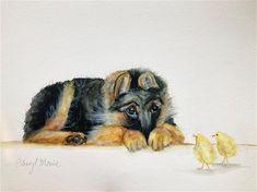 Watercolour Art, Cheryl, Fox, Animals, Animales, Animaux, Animal, Animais, Foxes