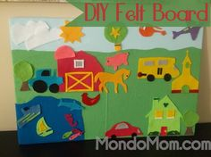 DIY Felt Board for kids with printable templates... so much fun to make for the kids and they are entertained for hours!