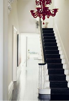 painted stairs. via Desire to Inspire