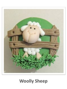 Woolly Sheep Cupcake PDF Tutorial by ShereensCakesandBake on Etsy