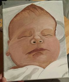Infant acrylic painting. March 6th, 2017.