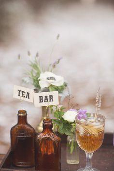 I love the idea of an aromatic tea bar at a wedding - chai, lavender, mint....mmmmm.