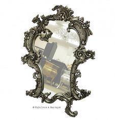 Claudette Mirror - Silver Leaf   I love that this has an organic shape to it and isn't perfectly symmetrical!