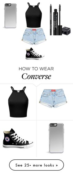 """Sans titre #8340"" by ghilini-l-roquecoquille on Polyvore featuring Converse and Rodial"