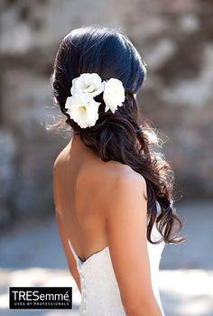 Look Ondas Cabello Oscuro -  Gorgeous Wedding Hairstyle #TRESemméPerú