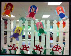 Fairy Garden Bulletin Board Preschool Ideas, Preschool Crafts, Garden Bulletin Boards, Enchanted Forest Theme, Fairy Tale Theme, Library Displays, Garden Theme, Dramatic Play, Holiday Activities