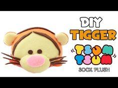 DIY Tigger Tsum Tsum Sock Plushie Tutorial