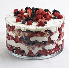 Summer Berry Trifle--Use any kind of berry you like, just make sure you choose the ripest, tastiest ones available. Day-old bread soaks up all their sweet juices. Via FineCooking