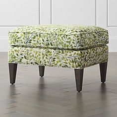 The comfortable weave is tailored with self-welting detail to emphasize the chair's clean, finished silhouette. The Elyse Armchair is a Crate and Barrel exclusive. Green Furniture, Furniture Decor, Upholstered Furniture, Custom Furniture, Crate And Barrel, Professional Upholstery Cleaning, Extra Seating, Foot Rest, Accent Decor