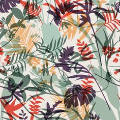 Tropical Plants Silhouette for Jungle Motif