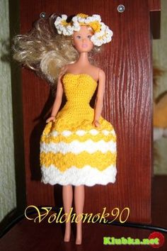 crochet dress for Barbie-maybe I can understand all these foreign translations