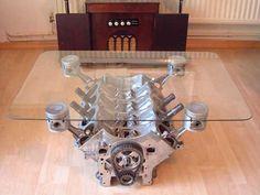 table basse avec un moteur