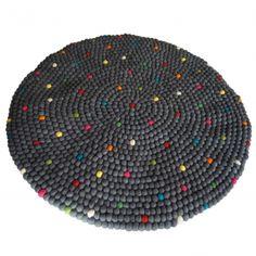 teppich filz filzkugelteppich ab 120cm durchmesse teppiche filz und fr ulein. Black Bedroom Furniture Sets. Home Design Ideas