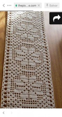Vintage Crochet Table Runner Small Table Runner x Crochet Table Runner Pattern, Crochet Quilt, Crochet Tablecloth, Crochet Flower Patterns, Crochet Doilies, Crochet Flowers, Crochet Stitches, Dress Patterns, Filet Crochet Charts
