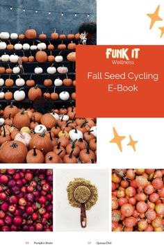 Cozy, nourishing, anything-but-basic Fall recipes developed by our dietitian. All of the seed cycling recipes you need to balance your cycle and jump into 2021 with a splash. This book includes the following seasonal fall recipe: Seed Cycling Pumpkin Shake Seed Cycling Fig Coconut Yogurt Seed Cycling Vegan Cinnamon Pancakes Seed Cycling Plant-Based Pumpkin Soup Seed Cycling Quinoa Chili Seed Cycling Pomegranate Quinoa Salad Seed Cycling Pumpkin Spice Oats BONUS: DIY Cider Pumpkin Shake, Pumpkin Soup, Quinoa Chili, Quinoa Salad, Seed Cycling, Coconut Yogurt, Dietitian, Fall Recipes, Pomegranate