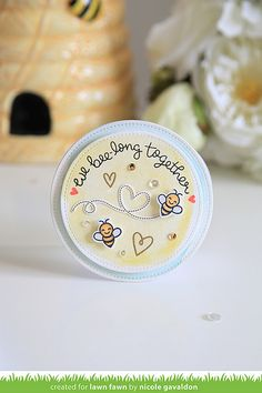 Lawn Fawn - Bugs and Kisses + coordinating dies, Stitched Circle Stackables _ by Nicole for Lawn Fawn Design Team