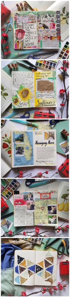 20 Ideas Travel Journal Inspiration Creative For 2019 Album Journal, Scrapbook Journal, My Journal, Journal Pages, Journal Ideas, Planner Journal, Artist Journal, Scrapbook Titles, Diy Scrapbook
