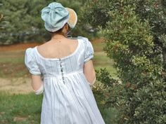 Regency dress and bonnet...for those walks through the woods to Mr Darcy's house :)