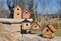 Wine Cork Birdhouses